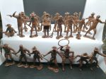 Toy soldiers Cowboys, Miners, Trappers - 22 psc