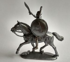Mounted Greek with a sword